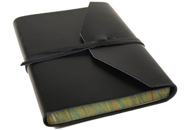 Picture of Positano Handmade Leather Wrap A5 Journal