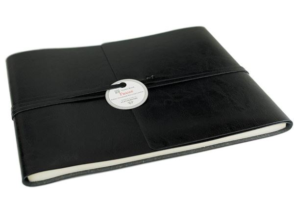 Picture of Tuscan Handmade Recycled Leather Wrap Extra Large Guest Book