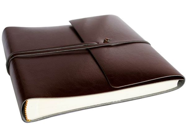 Picture of Pachino Handmade Recycled Leather Wrap Medium Photo Album