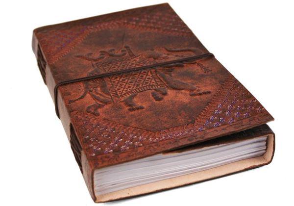 Picture of Camel Hide Handmade Handbound A5 Journal