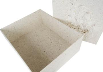 Picture of Flaura Handmade Extra Large Keepsake Box White