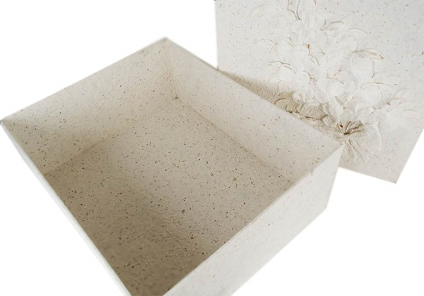 Picture of Flaura Handmade Large Keepsake Box White