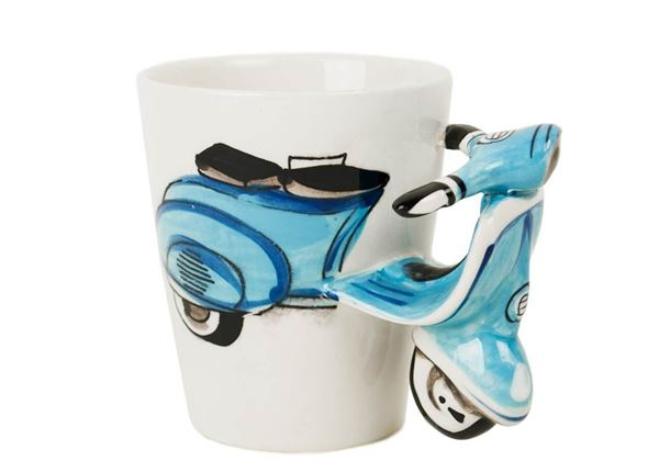 Picture of Vespa Handmade Ceramic 8oz Coffee Mug