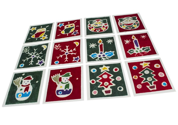 Picture of Scrappy Do Small Red and Green Handmade Christmas Card