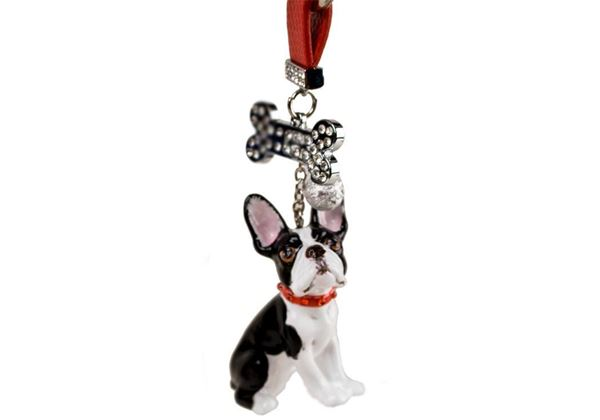 Picture of Boston Terrier Handmade Mini Key Ring