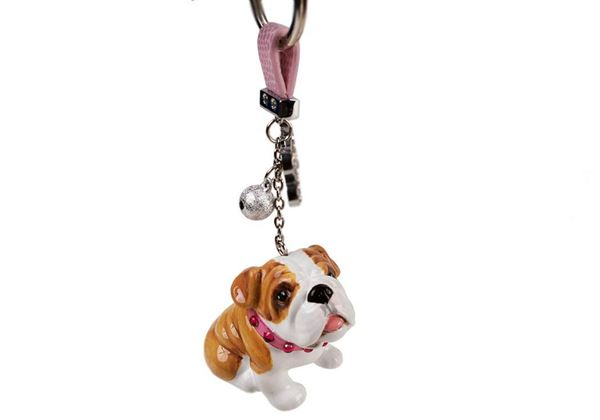 Picture of Bulldog Handmade Mini Key Ring