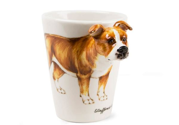 Picture of Staffordshire Bull Terrier Handmade 8oz Coffee Mug