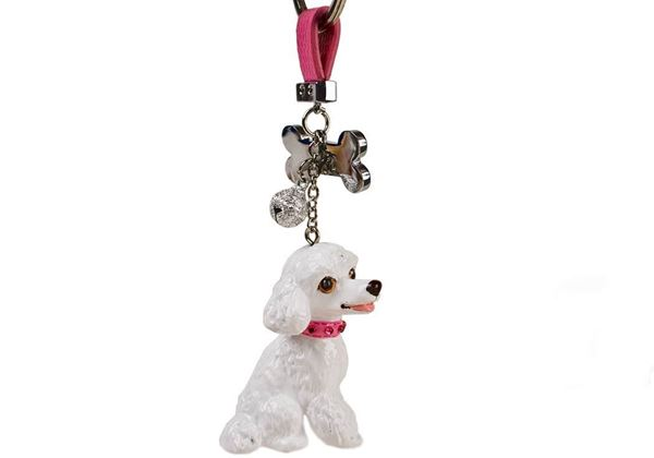 Picture of Poodle Handmade Mini Key Ring