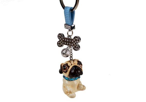 Picture of Pug Handmade Mini Key Ring
