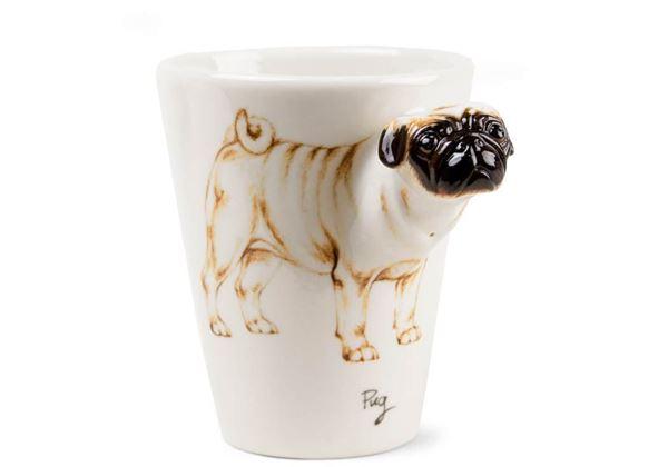 Picture of Pug Handmade 8oz Coffee Mug