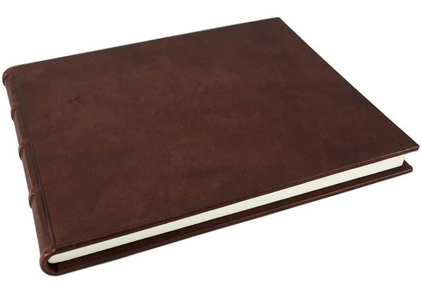 Picture of Chianti Handmade Italian Leather Bound Extra Large Guest Book
