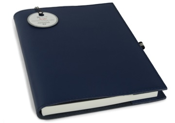 Picture of Acuto Handmade Italian Leather Bound A5 Refillable Journal Navy Plain