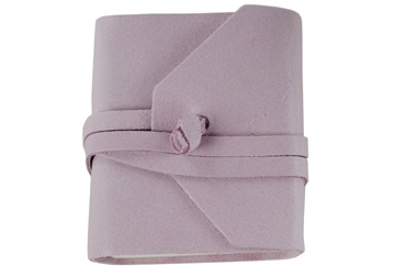 Picture of Capri Handmade Italian Leather Wrap Tiny Journal Salmon Plain