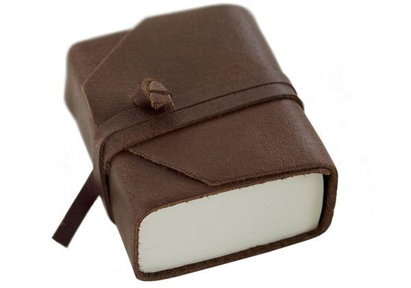 Picture of Capri Handmade Italian Leather Wrap Tiny Journal