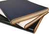Picture of Cortona Handmade Italian Leather Bound A4 Journal Navy Plain