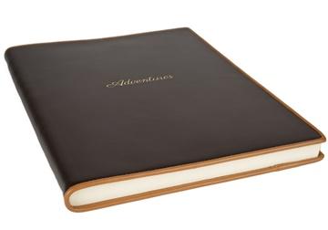 Picture of Cortona Mum's Adventure Italian Leather A4 Journal Chocolate Plain