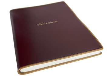 Picture of Cortona Mum's Adventure Italian Leather A4 Journal Burgundy Plain