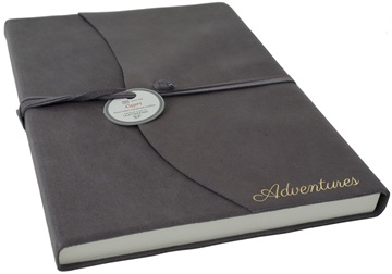 Picture of Capri Mum's Adventure Italian Leather A4 Journal Charcoal Plain