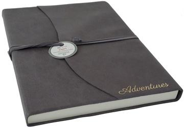 Picture of Capri Mum's Adventure Italian Leather A4 Journal Charcoal Plain