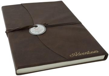 Picture of Capri Mum's Adventure Italian Leather A4 Journal Chocolate Plain