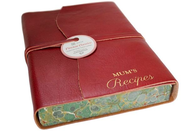 Picture of Firenze Classico Italian Leather A5 Recipes Journal