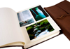 Picture of Capri Handmade Italian Leather Wrap Large Photo Album Charcoal