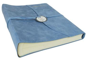 Picture of Capri Mum's Adventures Italian Leather Wrap Large Photo Album Aeroblue
