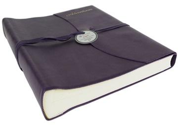 Picture of Capri Mum's Adventures Italian Leather Wrap Large Photo Album Aubergine