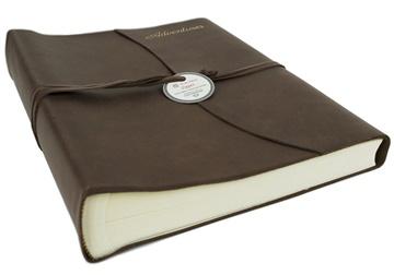 Picture of Capri Mum's Adventures Italian Leather Wrap Large Photo Album Chocolate