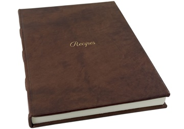 Picture of Chianti Mum's Recipes Italian Leather Bound A4 Journal Chocolate Plain