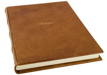 Picture of Chianti Mum's Recipes Italian Leather Bound A4 Journal Saddle Brown Plain