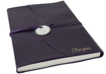 Picture of Capri Mum's Recipes Italian Leather Wrap A4 Journal Aubergine Plain