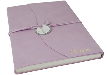 Picture of Capri Mum's Recipes Italian Leather Wrap A4 Journal Salmon Plain