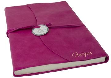 Picture of Capri Mum's Recipes Italian Leather Wrap A4 Journal Fuchsia Plain