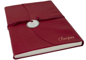 Picture of Capri Mum's Recipes Italian Leather Wrap A4 Journal Firebrick Plain