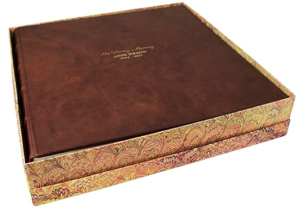 Picture of Chianti In Loving Memory Italian Leather Bound Extra Large Photo Album