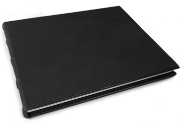 Picture of Chianti Handmade Italian Leather Bound Extra Large Guest Book Black