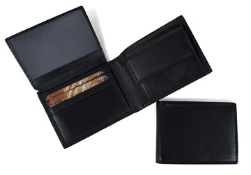 Picture of Ventura Handcrafted Leather Slim Wallet Black