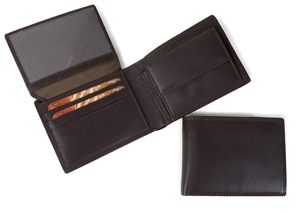 Picture of Ventura Handcrafted Leather Slim Wallet Chocolate