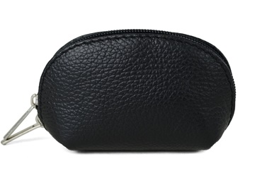 Picture of Nina Handcraft in Italy Small Purse Black Pebble
