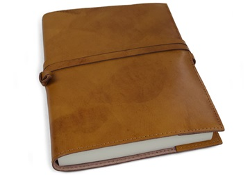 Picture of Nabucco Handmade Leather Bound A5 Refillable Journal Tan Plain