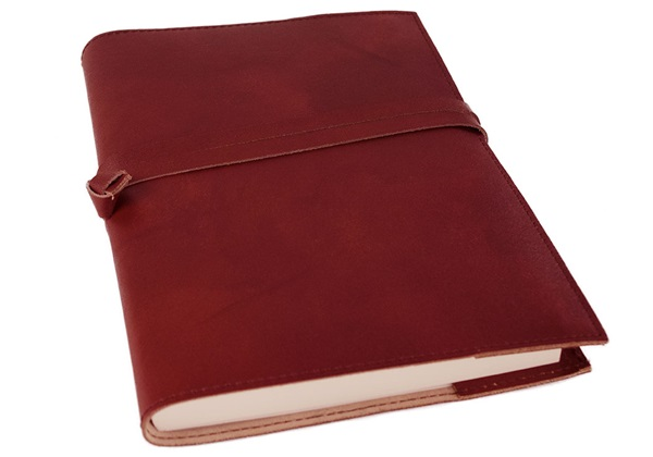 Picture of Nabucco Handmade Leather Bound A5 Refillable Journal Burgundy Plain