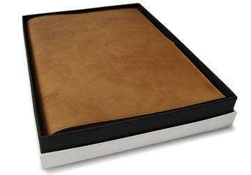 Picture of Nabucco Handmade Leather Bound A4 Refillable Journal Tan Plain
