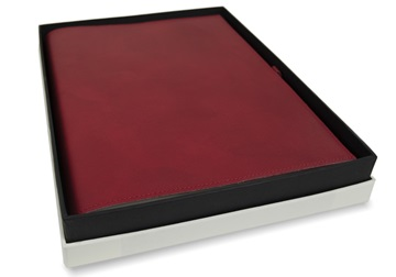 Picture of Nabucco Handmade Leather Bound A4 Refillable Journal Burgundy Plain