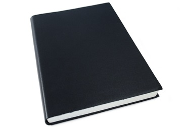 Picture of Nabucco Handmade Leather A5 Journal Black Plain