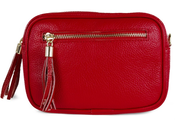 Picture of Nina Handcrafted Leather Large Cosmetic Bag Red
