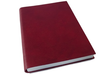 Picture of Nabucco Handmade Leather A5 Journal Burgundy Plain