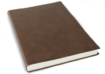Picture of Preciso Handmade Leather A5 Journal Chocolate Plain
