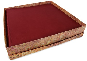 Picture of Chianti Handmade Italian Leather Bound Extra Large Photo Album Burgundy