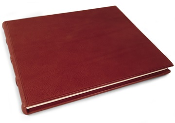 Picture of Chianti Handmade Italian Leather Bound Extra Large Guest Book Burgundy